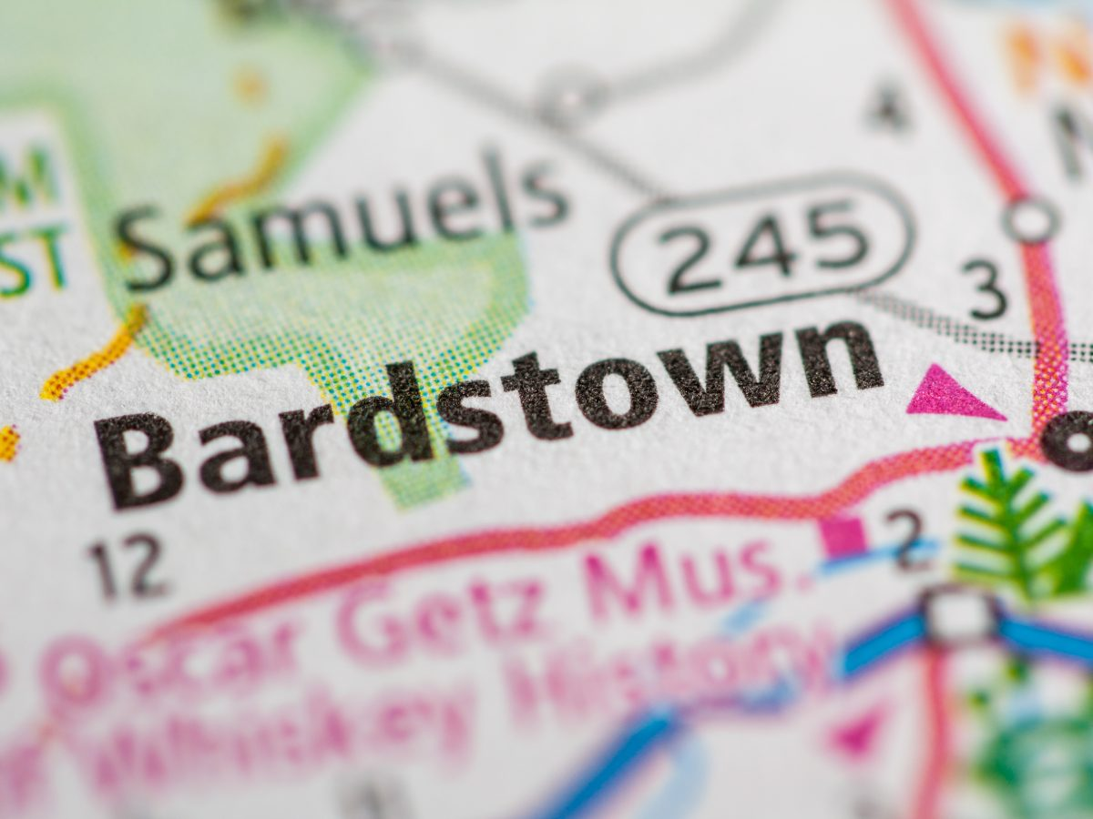 Bardstown map