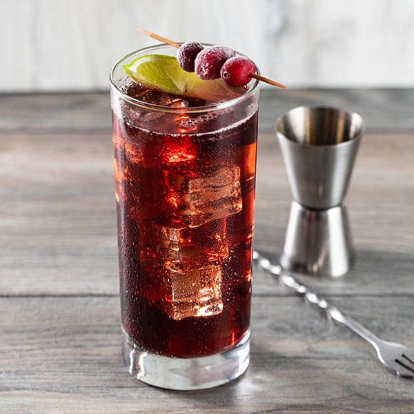 Cranberry Lime Seltzer