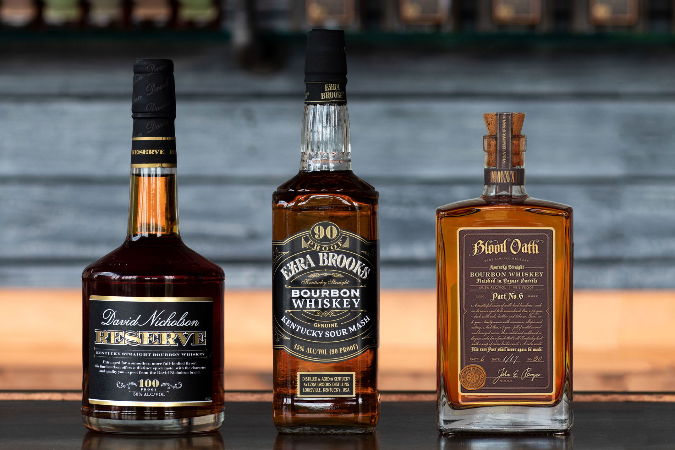 David Nicholson, Ezra Brooks, and Blood Oath bourbon