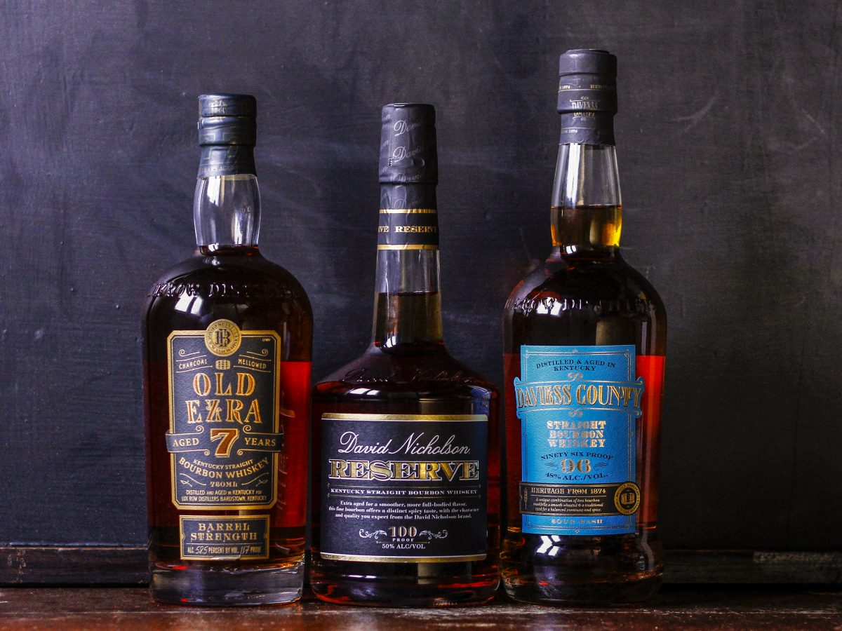 David Nicholson, Ezra Brooks, and Daviess County bourbons